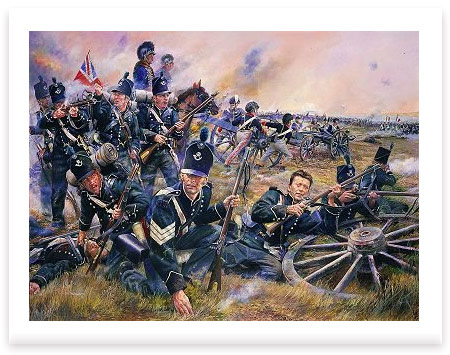 The 95th Rifle Brigade at the Battle of Fuentes De Onoro, 5th May 1811 by Chris Collingwood