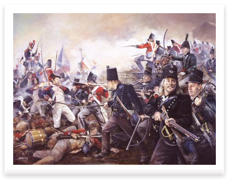 The Defence of La Haye-Sainte, 18th June 1815 by Chris Collingwood