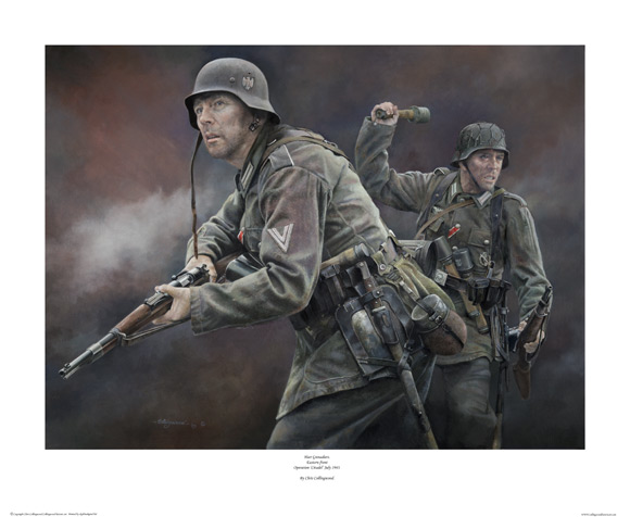 Heer Grenadiers Print by Chris Collingwood