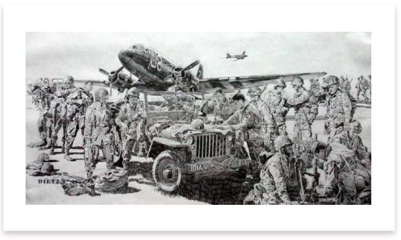Easy Company By James Dietz Ltd Edition Military Art