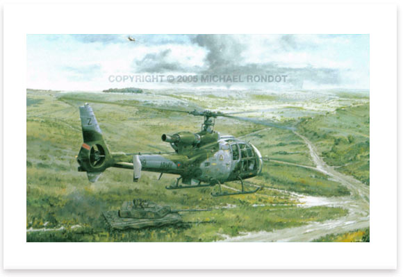 Gazelle Over Salisbury Plain by Michael Rondot