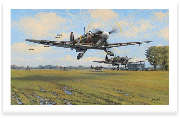 Spitfire Scramble by Philip E West