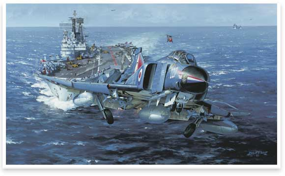 H.M.S. Ark Royal by Philip E West