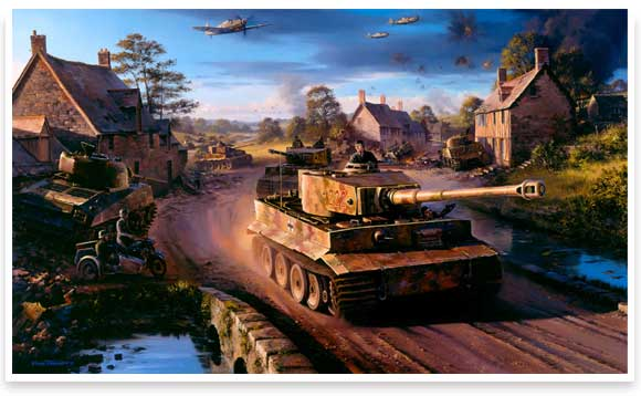 Tigers in Normandy by Nicholas Trudgian