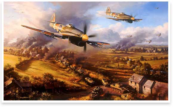 Typhoons at Falaise by Nicholas Trudgian