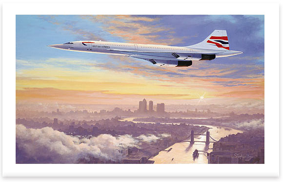 Concorde – Early Morning Arrival by Stephen Brown