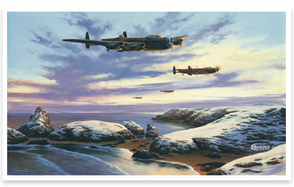 Lancasters over Kynance by Stephen Brown